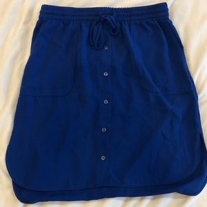 Royal blue skirt with pockets